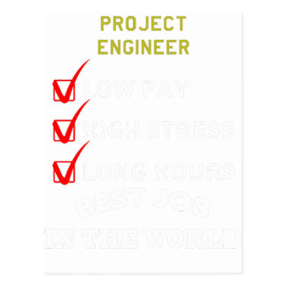 project engineer postcard