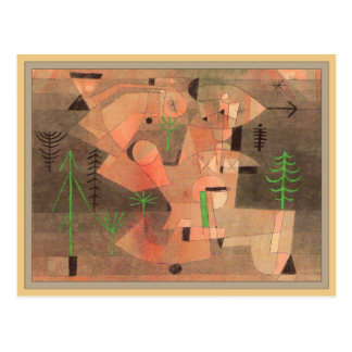 Project for a Garden by Paul Klee Postcard