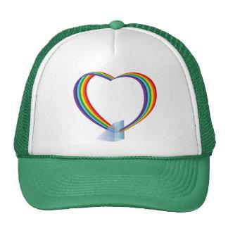 Project Glass | Google Glass Explorer - Rainbow Trucker Hat