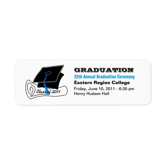 Project Graduation Announcement  Label Diploma 2