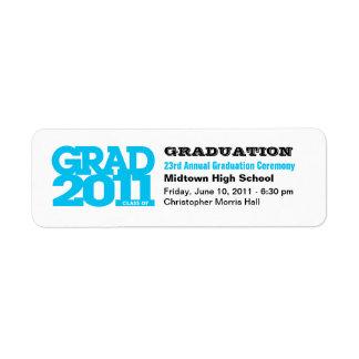 Project Graduation Announcement  Label Grad 2011 B Return Address Label