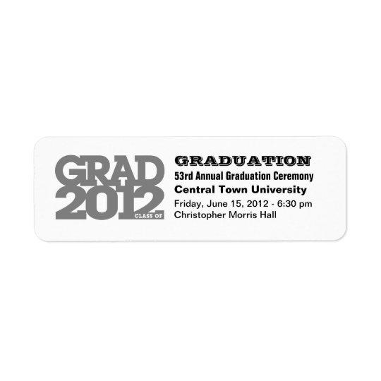 Project Graduation Class of 2012 Label Black