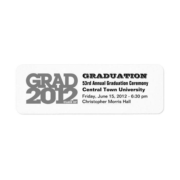 Project Graduation Class of 2012 Label Black Return Address Label