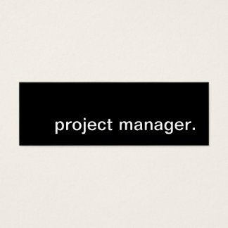 project manager. mini business card