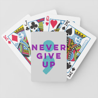 Project Semicolon Never Give Up Suicide Prevention Bicycle Playing Cards