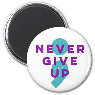 Project Semicolon Never Give Up Suicide Prevention Magnet