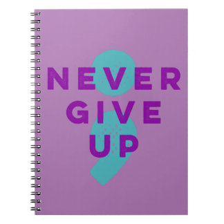 Project Semicolon Never Give Up Suicide Prevention Notebook