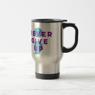 Project Semicolon Never Give Up Suicide Prevention Travel Mug