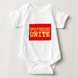 proletarians of all countries unite baby bodysuit