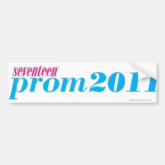 Prom 2011 - Aqua Bumper Sticker