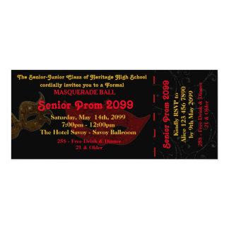 Prom Invitation Ticket Masquerade Style,chic,trend