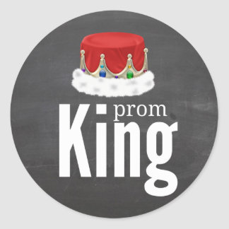 Prom King Classic Round Sticker