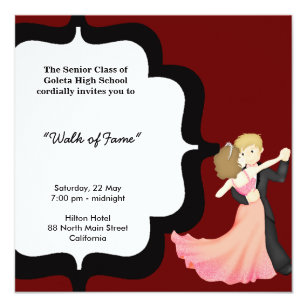 Prom night invitations announcements zazzle ca prom night dance card stopboris Image collections