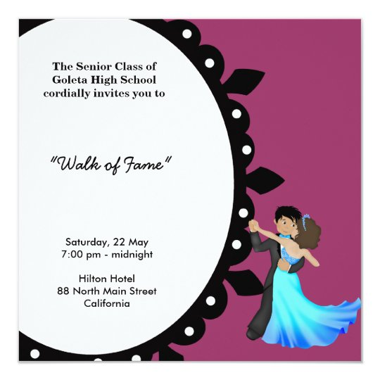Prom night dance card zazzle prom night dance card stopboris Image collections