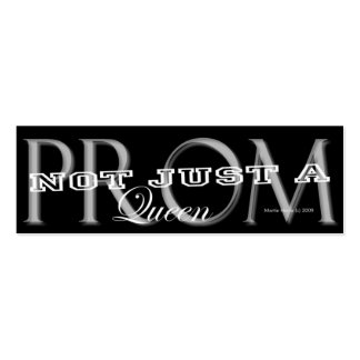 Prom Queen - Social Media Personal Card Business Cards
