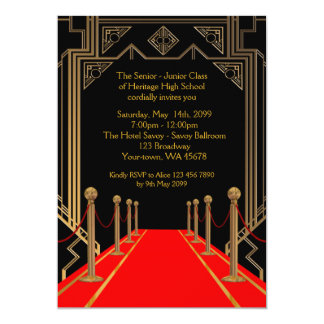Prom Senior-Junior, Gatsby style, Red Carpet Night Card