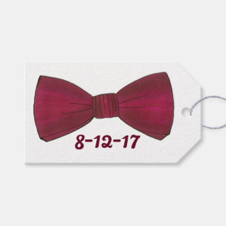 Prom Wedding Bachelor Party Groom Bow Tie Gift Tag