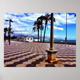 Promenade Along the Mediterranean Poster