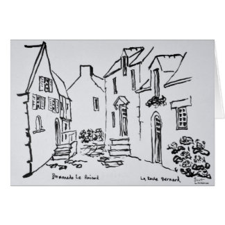 Promenade du Ruicard   La Roche-Bernard, Brittany Card