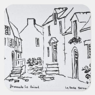 Promenade du Ruicard | La Roche-Bernard, Brittany Square Sticker
