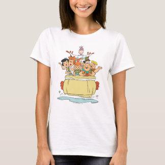 Promenade en voiture de famille de Flintstones T-shirt