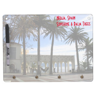 Promenade In Old Town Nerja, Spain Dry Erase Board With Keychain Holder