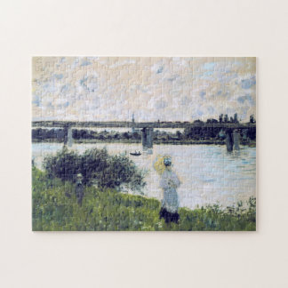 Promenade near Bridge of Argenteuil Monet Fine Art Jigsaw Puzzle