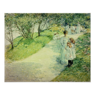 Promenaders in the garden, 1898 poster