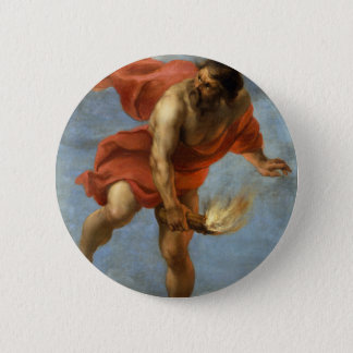 Prometheus Carrying Fire 2 Inch Round Button