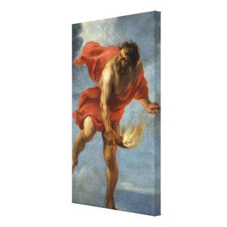 Prometheus Carrying Fire Canvas Print