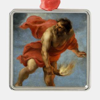 Prometheus Carrying Fire Metal Ornament