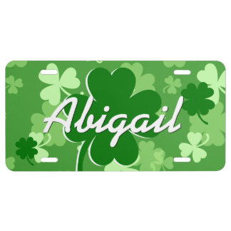 PROMO5 Personalized Lucky Shamrock V03E License Plate