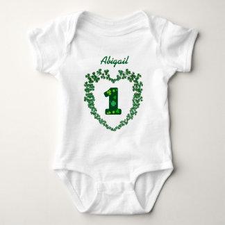 PROMO5 St Patricks Day Lucky 1st Birthday Baby Bodysuit