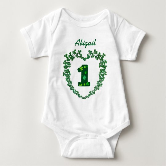 PROMO5 St Patricks Day Lucky 1st Birthday Baby Bodysuit