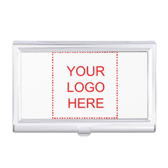 Promo business card holder with logo or photo
