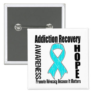 Promote Addiction Recovery Because It Matters 2 Inch Square Button