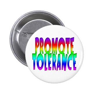 Promote Tolerance Rainbow 2 Inch Round Button