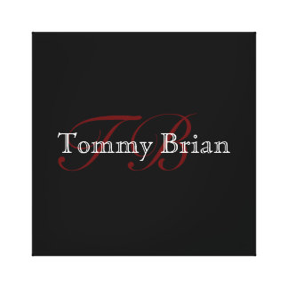 promote yourself with name and initials gallery wrap canvas