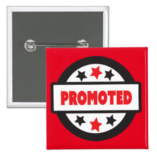 "Promoted STamp 5.1 cm (2"") Square Badge 2 Inch Square Button"