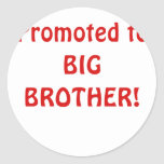 Promoted to Big Brother Round Stickers