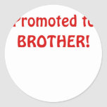 Promoted to Brother Stickers