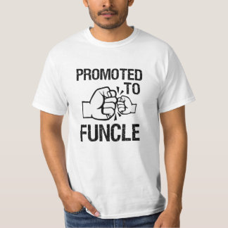 Promoted to Funcle funny mens Uncle T-shirt