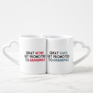 Promoted to Grandparents Coffee Mug Set