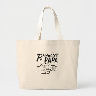 Promoted To Papa New Grandpa Mens Shirt Large Tote Bag