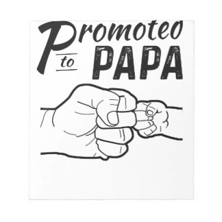 Promoted To Papa New Grandpa Mens Shirt Notepad