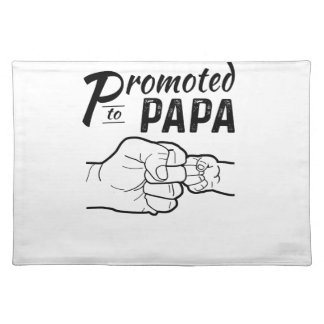 Promoted To Papa New Grandpa Mens Shirt Placemat