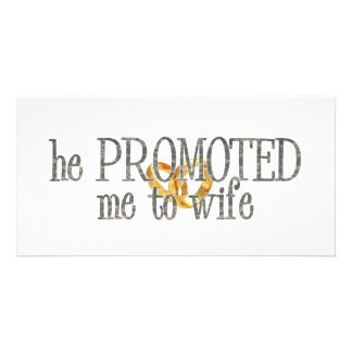 promoted to wife photo card