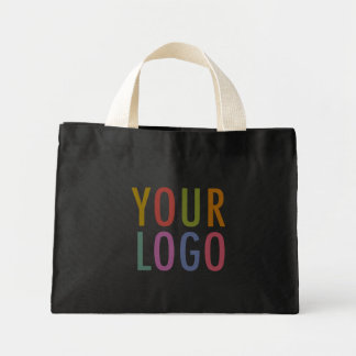 Promotional Black Cotton Tote Bag Company Logo