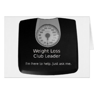 Promotional Design For Weight Loss Coaches Card