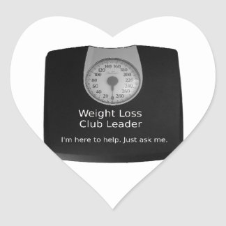 Promotional Design For Weight Loss Coaches Heart Sticker